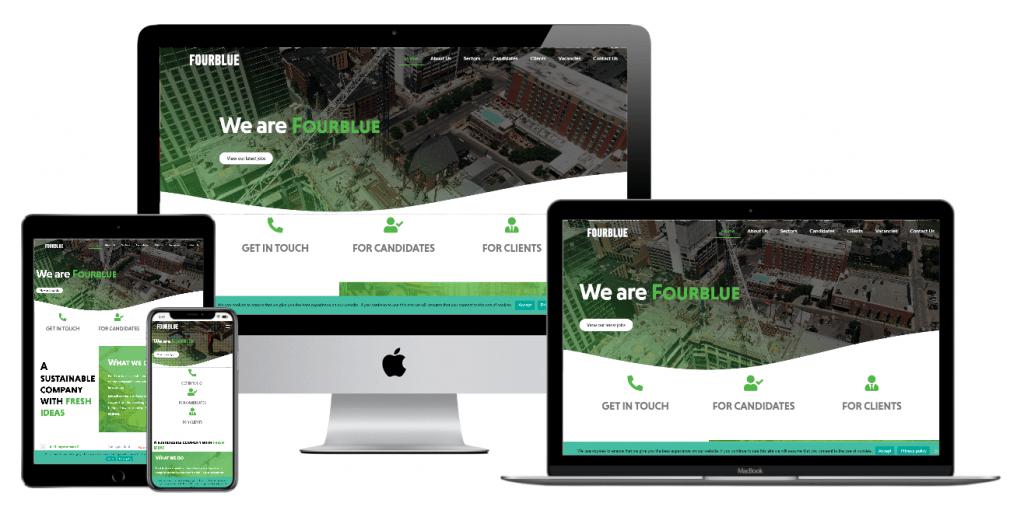 Mobile optimised website development