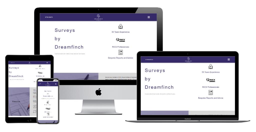 Dreamfinch responsive website